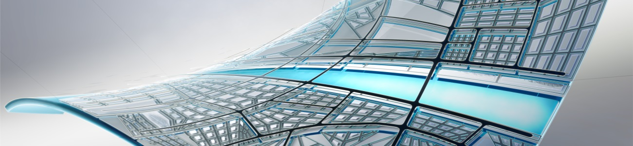 Hero image for AutoCAD Map 3d and Infrastructure Map Server. Rendering of an abstract composition designed and rendered in Autodesk(R) 3ds Max(R) software.